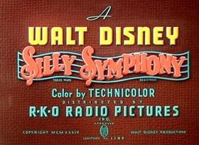 Screenshots from the 1934 Disney cartoon Funny Little Bunnies