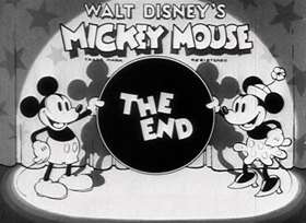 Screenshots from the 1934 Disney cartoon Gulliver Mickey