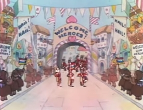 Screenshots from the 1934 Disney cartoon Hot Choc