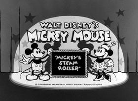 Screenshots from the 1934 Disney cartoon Mickey