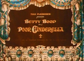 Screenshots from the 1934 Fleischer Studio cartoon Poor Cinderella