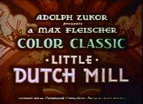 Screenshots from the 1934 Fleischer Studio cartoon Little Dutch Mill