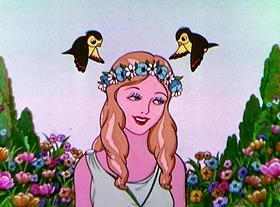 Screenshots from the 1934 Disney cartoon The Goddess of Spring
