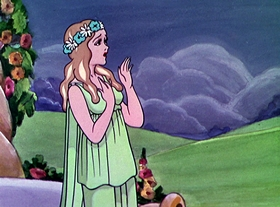 Screenshots from the 1934 Disney cartoon The Goddess of Spring