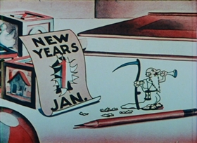 Screenshots from the 1934 Columbia cartoon Holiday Land