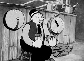 Screenshots from the 1934 Fleischer Studio cartoon Let