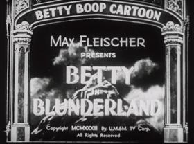 Screenshots from the 1934 Fleischer Studio cartoon Betty in Blunderland