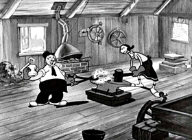 Screenshots from the 1934 Fleischer Studio cartoon Shoein