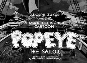Screenshots from the 1934 Fleischer Studio cartoon Shiver Me Timbers