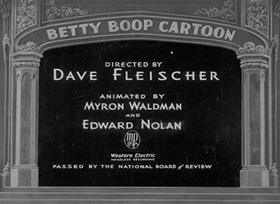Screenshots from the 1934 Fleischer Studio cartoon Betty Boop