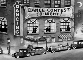Screenshots from the 1934 Fleischer Studio cartoon The Dance Contest