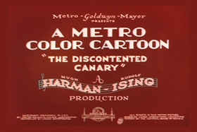 Screenshots from the 1934 MGM cartoon The Discontented Canary