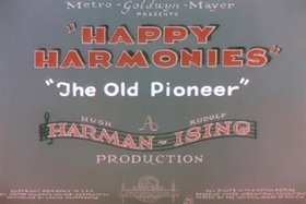Screenshots from the 1934 MGM cartoon The Old Pioneer