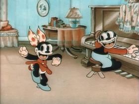 Screenshots from the 1934 MGM cartoon Bosko