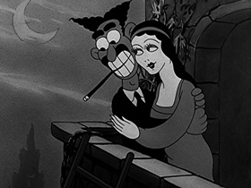 Screenshots from the 1934 Walter Lantz cartoon The Wax Works