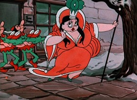 Screenshots from the 1934 Walter Lantz cartoon Jolly Little Elves