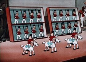 Screenshots from the 1934 Walter Lantz cartoon Toyland Premiere