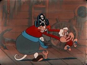 Screenshots from the 1934 Ub Iwerks cartoon Davy Jones Locker