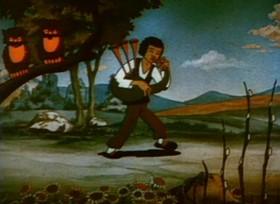 Screenshots from the 1934 Ub Iwerks cartoon Puss in Boots