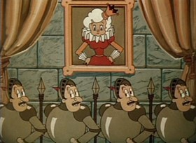 Screenshots from the 1935 Ub Iwerks cartoon Old Mother Hubbard