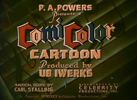 Screenshots from the 1935 Ub Iwerks cartoon Mary
