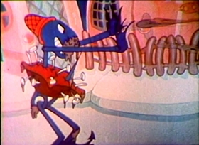 Screenshots from the 1935 Ub Iwerks cartoon Balloon Land