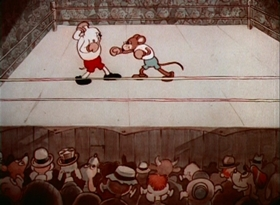 Screenshots from the 1935 Warner Brothers cartoon The Country Mouse