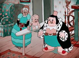 Screenshots from the 1935 Warner Bros. cartoon The Merry Old Soul