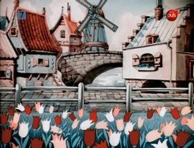 Screenshots from the 1935 Warner Brothers cartoon Little Dutch Plate