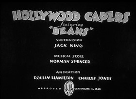 Screenshots from the 1935 Warner Brothers cartoon Hollywood Capers
