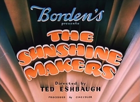 Screenshots from the 1935 Van Beuren cartoon The Sunshine Makers