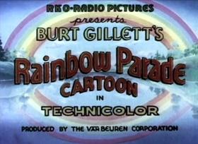 Screenshots from the 1935 Van Beuren cartoon Parrotville Old Folks