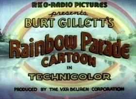 Screenshots from the 1935 Van Beuren cartoon Spinning Mice