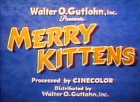Screenshots from the 1935 Van Beuren cartoon Merry Kittens