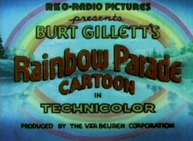 Screenshots from the 1935 Van Beuren cartoon The Rag Dog