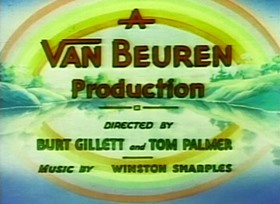 Screenshots from the 1935 Van Beuren cartoon The Hunting Season