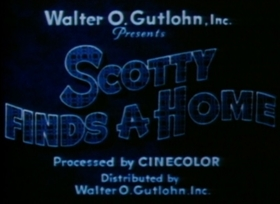Screenshots from the 1935 Van Beuren cartoon Scotty Finds a Home