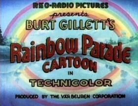 Screenshots from the 1935 Van Beuren cartoon Bird Scouts
