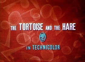 Screenshots from the 1935 Disney cartoon The Tortoise and the Hare