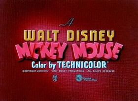 Screenshots from the 1935 Disney cartoon The Band Concert