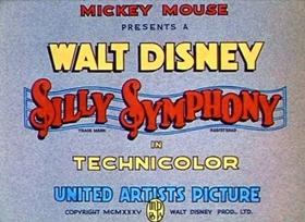 Screenshots from the 1935 Disney cartoon The Robber Kitten