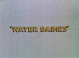 Screenshots from the 1935 Disney cartoon Water Babies