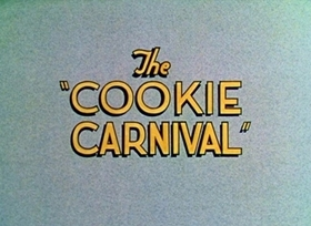 Screenshots from the 1935 Disney cartoon The Cookie Carnival
