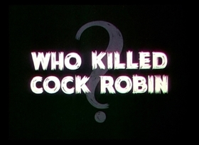 Screenshots from the 1935 Disney cartoon Who Killed Cock Robin?
