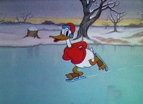 Screenshots from the 1935 Disney cartoon On Ice