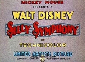 Screenshots from the 1935 Disney cartoon Broken Toys