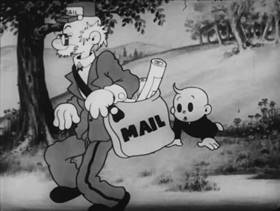 Screenshots from the 1935 Columbia cartoon Let