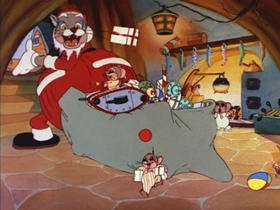 Screenshots from the 1935 MGM cartoon Alias St. Nick