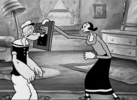 Screenshots from the 1935 Fleischer Studio cartoon Beware of Barnacle Bill