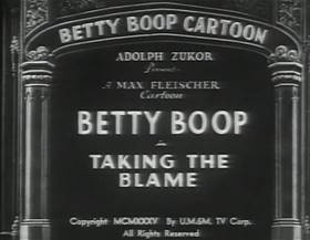 Screenshots from the 1935 Fleischer Studio cartoon Taking the Blame
